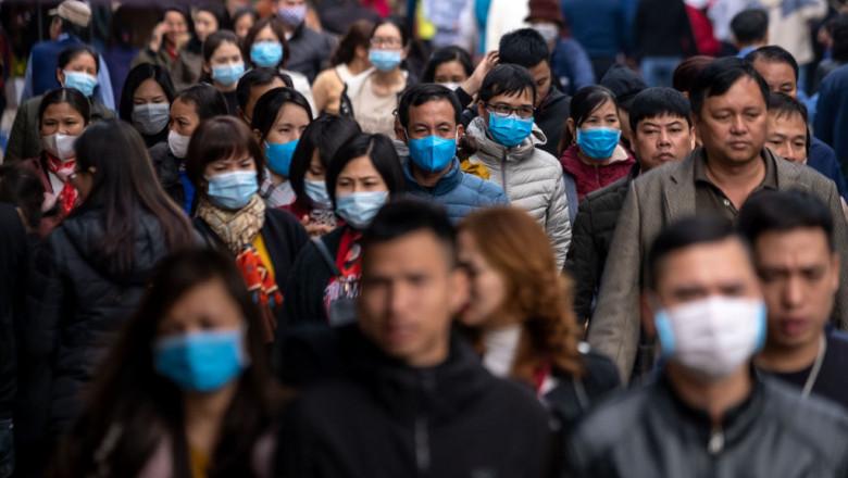 coronavirus China, oameni în regiunea Wuhan