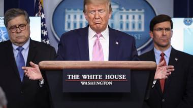 task force coronavirus Casa Albă, Donald Trump