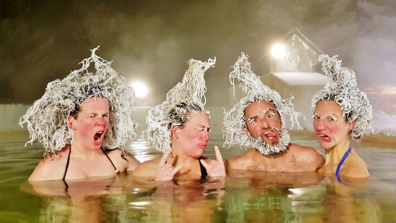 Frozen Hair Contest