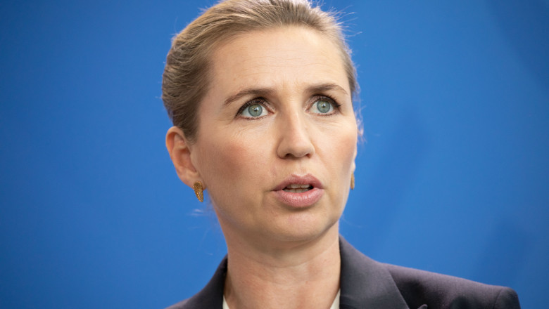 BERLIN, GERMANY - JULY 11: New Danish Prime Minister Mette Frederiksen speaks during a joint press conference with German Chancellor Angela Merkel (not in picture) at the Chancellery on July 11, 2019 in Berlin, Germany. Frederiksen, a Social Democrat, became prime minister following Danish parliamentary elections on June 5 that gave an alliance of left-wing and centrist parties a majority. (Photo by Omer Messinger/Getty Images)