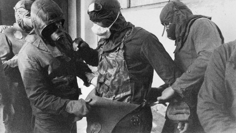 CHERNOBYL/USSR : Aftermath of nuclear accident