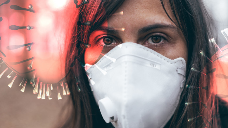woman wearing a mask to protect from viruses