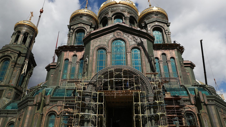 Construction of Main Cathedral of Russian Armed Forces nears completion