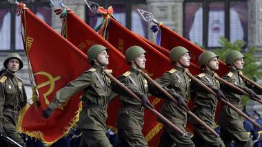 GettyImages-paradă militară rusia moscova soldați