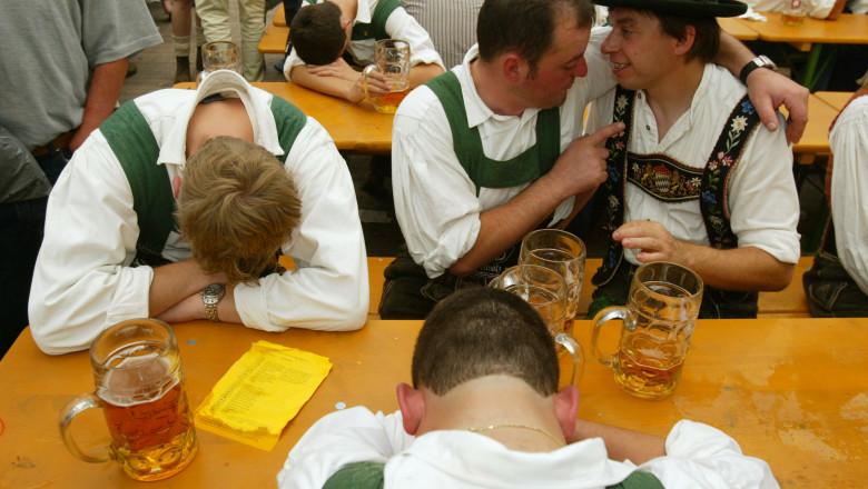 Revelers party hard at Oktoberfest