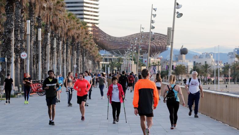 profimedia-spania barcelona alergare alergatori jogging5