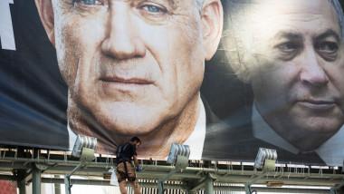 GettyImages-netanyahu gantz israel