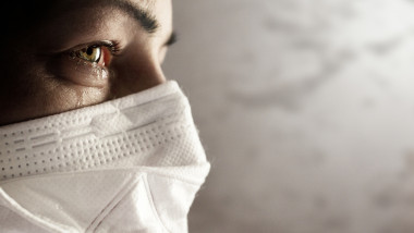 Women with safety mask from coronavirus. Covid-19 outbreak around the world