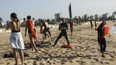 Redeschidere plaje Barcelona, în timpul epidemiei de coronavirus din Spania