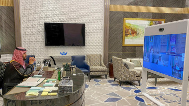 Videoconference Cabinet Meeting - Riyad