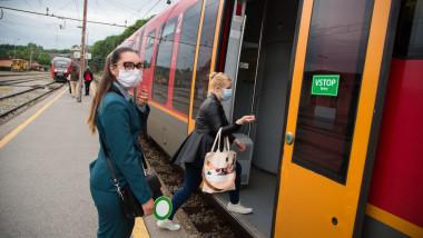 Public Transportation resumed after COVID-19) lockdown in Kranj, Slovenia - 11 May 2020
