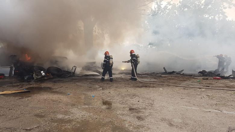 incendiu pompieri anevlope