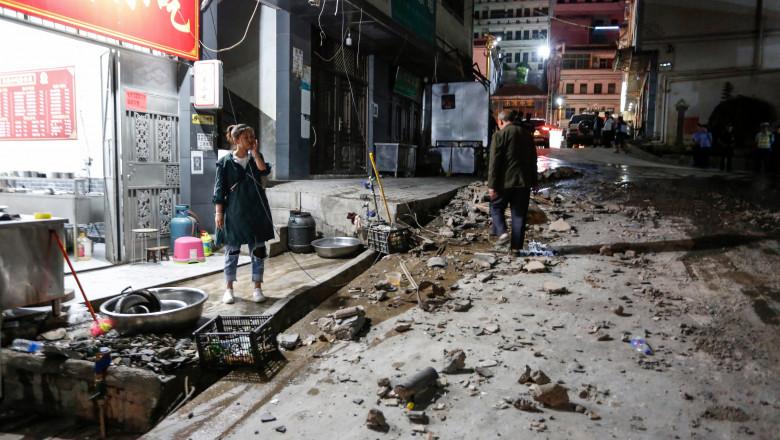 După coronavirus, China a fost lovită de un cutremur produs în sud-vestul țării