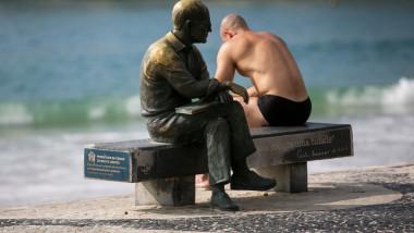 A Sunny Sunday in Copacabana Beach Amidst the Coronavirus (COVID - 19) Pandemic
