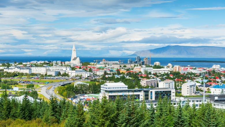 Panoramic view of Reykjavik, Iceland