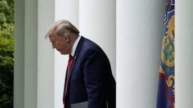 Donald Trump a sustinut un discurs la Casa Alba