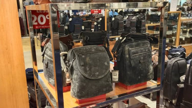 Shopping mall has deep clean after leather goods were covered in