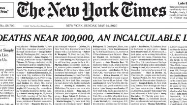Cotidianul New York Times a publicat pe prima pagină o listă cu numele persoanelor decedate din cauza COVID-19