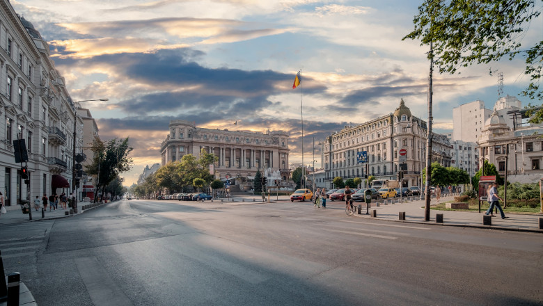 Bucharest, Romania - Palace of the National Military Circle.