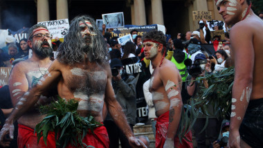 Australians Rally In Solidarity With U.S. Black Lives Matter Marches Over Death Of George Floyd
