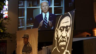 Joe Biden, la funeraliile lui George Floyd