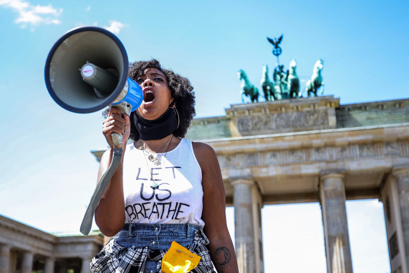 Black Lives Matter Protest: commemorating George Floyd in Berlin