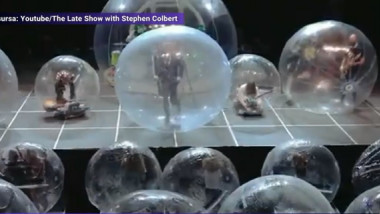 concert bule plastic