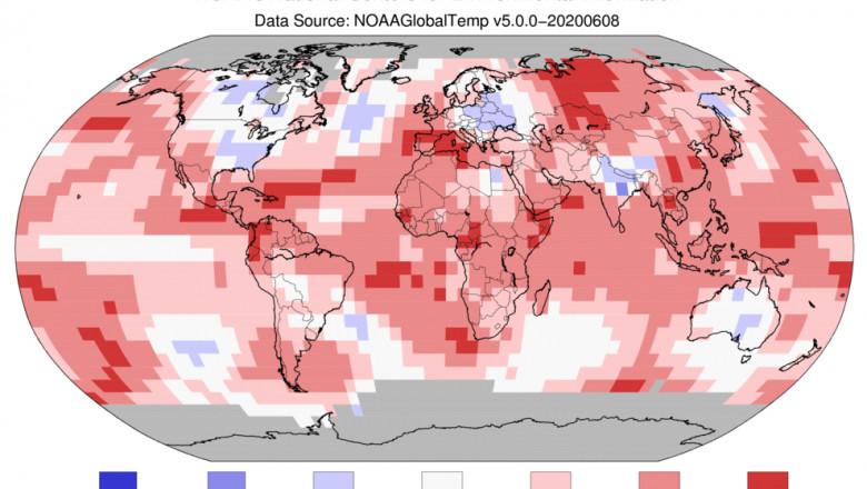 temperatura pe glob in luna mai