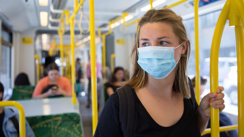 Masca de protectie in transportul public
