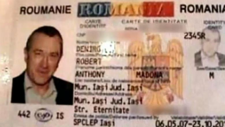Un român s-a folosit de un buletin fals cu poza actorului Robert de Niro pentru a lua credite