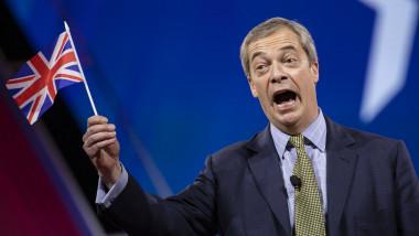 Nigel Farage la reuniunea Conservatorilor britanici