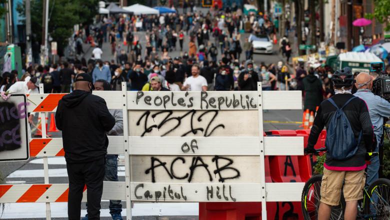 Protestele anti-rasism continuă în Seattle
