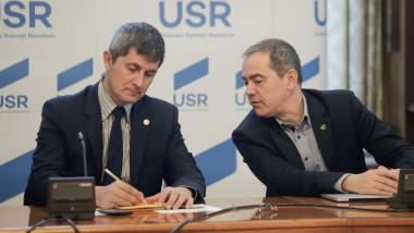 Președintele USR Dan Barna și senatorul USR Vlad Alexandrescu