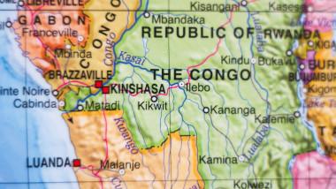 Republica Democrată Congo pe hartă.
