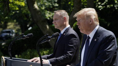 President Trump Holds News Conference With Polish President Andrzej Duda
