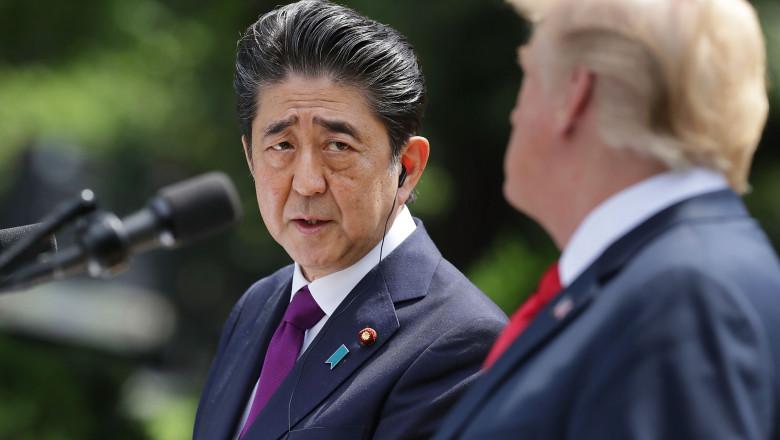 Shinzo Abe și Donald Trump la Casa Albă