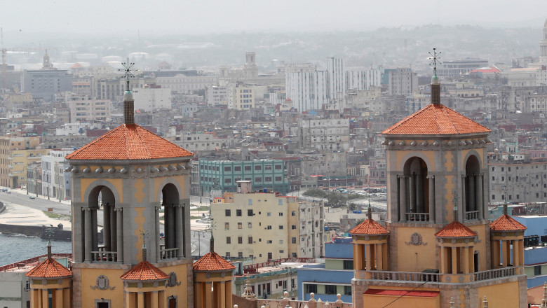 Un nor de praf saharian a întunecat orizontul în Cuba