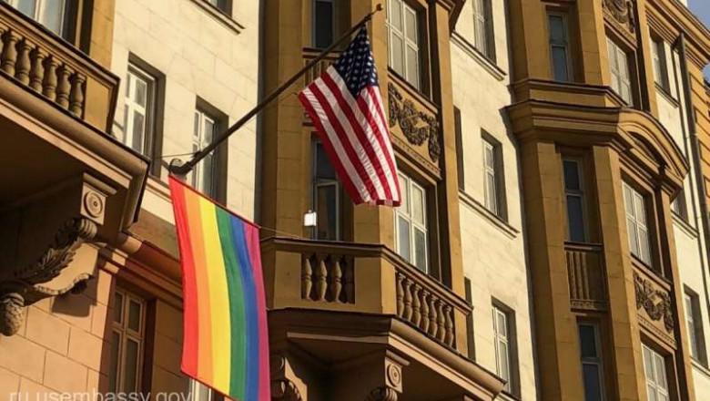 ambasada sua moscova steag drapel lgbti