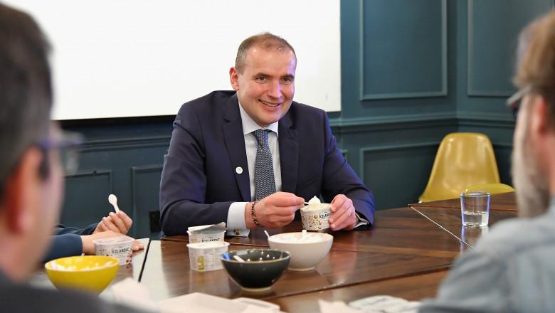 President Of Iceland, Gudni Th. Johannesson, Visits US Skyr Company Icelandic Provisions