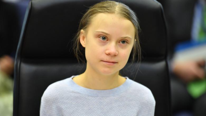 Greta Thunberg la Bruxelles
