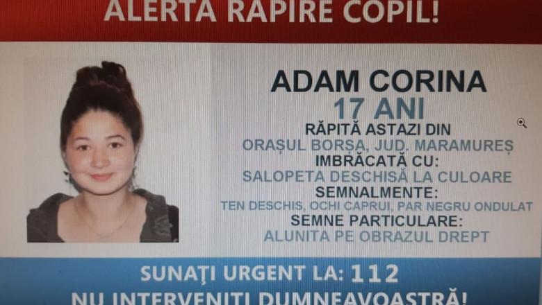 Adam Corina Andreea fata rapita borsa