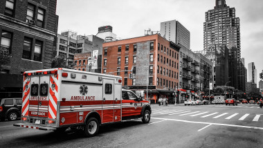 O ambulanta pe strazile din New York, SUA