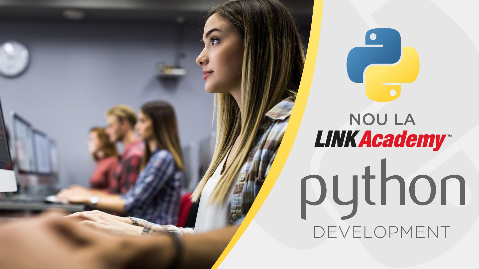 (P) Nou la LINK Academy: Program de un an de zile - Python Development