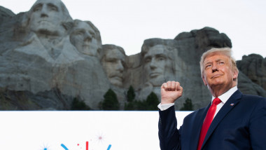 Donald Trump la Muntele Rushmore