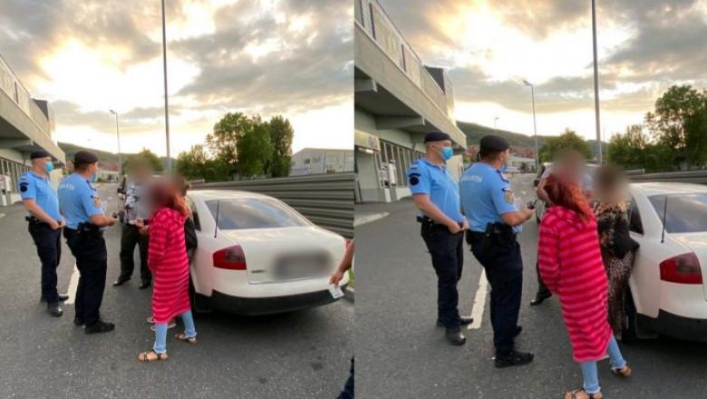 Copil de 11 ani pus să cerşească în parcarea unui supermarket în timp ce familia îl supraveghea dintr-o maşină de lux