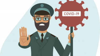 COVID-19 concept closing the country borders during coronavirus outbreak
