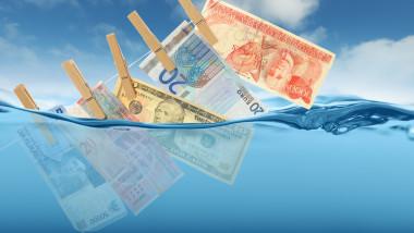 Money laundry concept - financial crime
