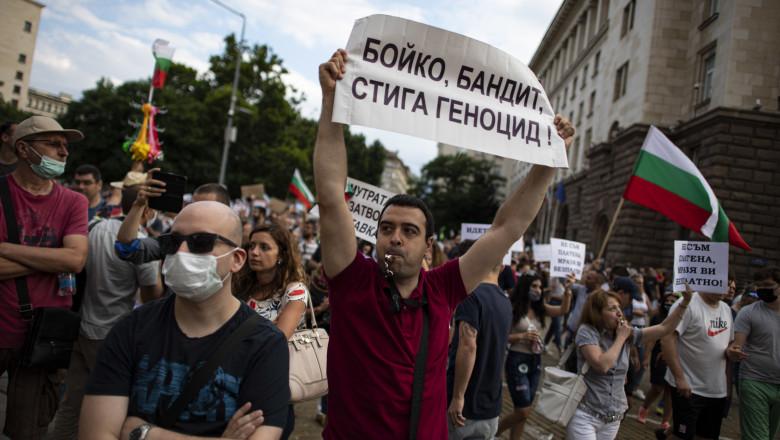 Аnti-government protest in in Sofia