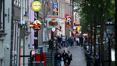 Amsterdam's Red Light District Reopens After Coronavirus Lockdown