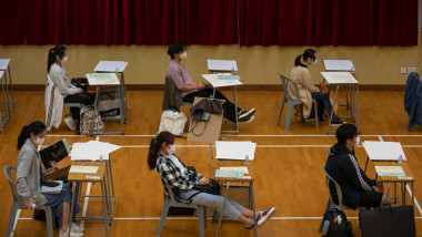 Hong Kong Students Sit For Public Exam Amid The Coronavirus Pandemic